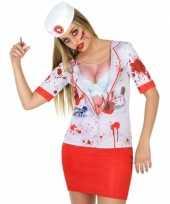Horror zuster shirt verkleedoutfit