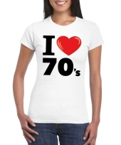 I love 70 s t-shirt wit dames