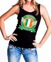 Ireland drinking team tanktop mouwloos shirt zwart dames