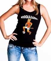 Nederlands dames elftal supporter hemd leeuwinnen roooaaaarrr hemd zwart voor dames