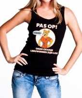 Nederlands dames elftal supporter hemd pas op leeuwinnen oranje hemd voor dames