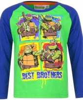 Ninja turtles shirt lange mouw groen voor jongens