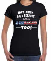 Not only perfect but american amerika too fun cadeau shirt voor dames
