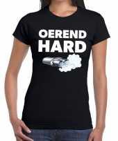 Oerend hard zwarte cross achterhoek t-shirt zwart voor dames