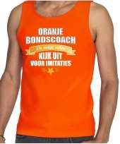 Oranje fan tanktop kleding holland de enige echte bondscoach ek wk voor heren