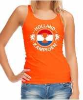 Oranje fan tanktop kleding holland kampioen met beker ek wk voor dames 10290375