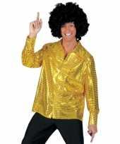 Pailletten blouse voor mannen goud
