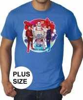 Plus size officieel toppers in concert 2019 t-shirt blauw heren