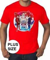 Plus size officieel toppers in concert 2019 t-shirt rood eren