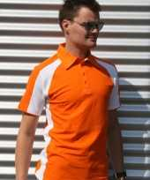 Polo shirts oranje voor heren lemon soda