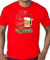 Rood kerst-shirt kerstkleding ho ho hold my beer voor heren grote maten