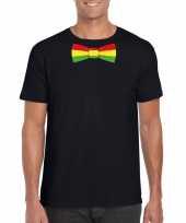 Shirt met rood geel groene limburg strik zwart heren