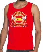 Spain drinking team tanktop mouwloos shirt rood heren