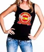 Spain drinking team tanktop mouwloos shirt zwart dames