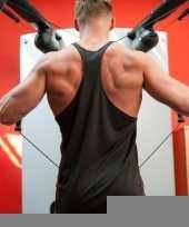 Sportkleding haltershirt voor mannen zwart