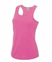 Sportkleding sneldrogend neon roze dames hemd