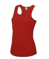 Sportkleding sneldrogend rode dames hemd