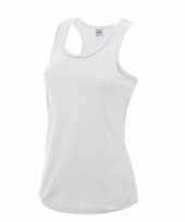 Sportkleding sneldrogend witte dames hemd