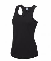 Sportkleding sneldrogend zwarte dames hemd