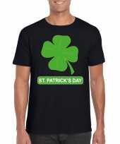 St patricksday klavertje t-shirt zwart heren