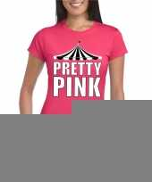 Toppers pretty pink t-shirt roze met witte letters dames