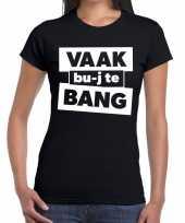Vaak bujte bang zwarte cross t-shirt zwart voor dames