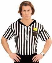 Voetbal scheidsrechter heren kostuum shirt met opdruk
