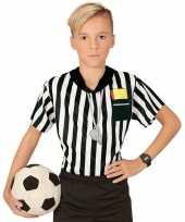 Voetbal scheidsrechter jongens shirt met opdruk