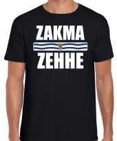 Zeeuws dialect-shirt zakma zehhe met zeelandse vlag zwart voor heren